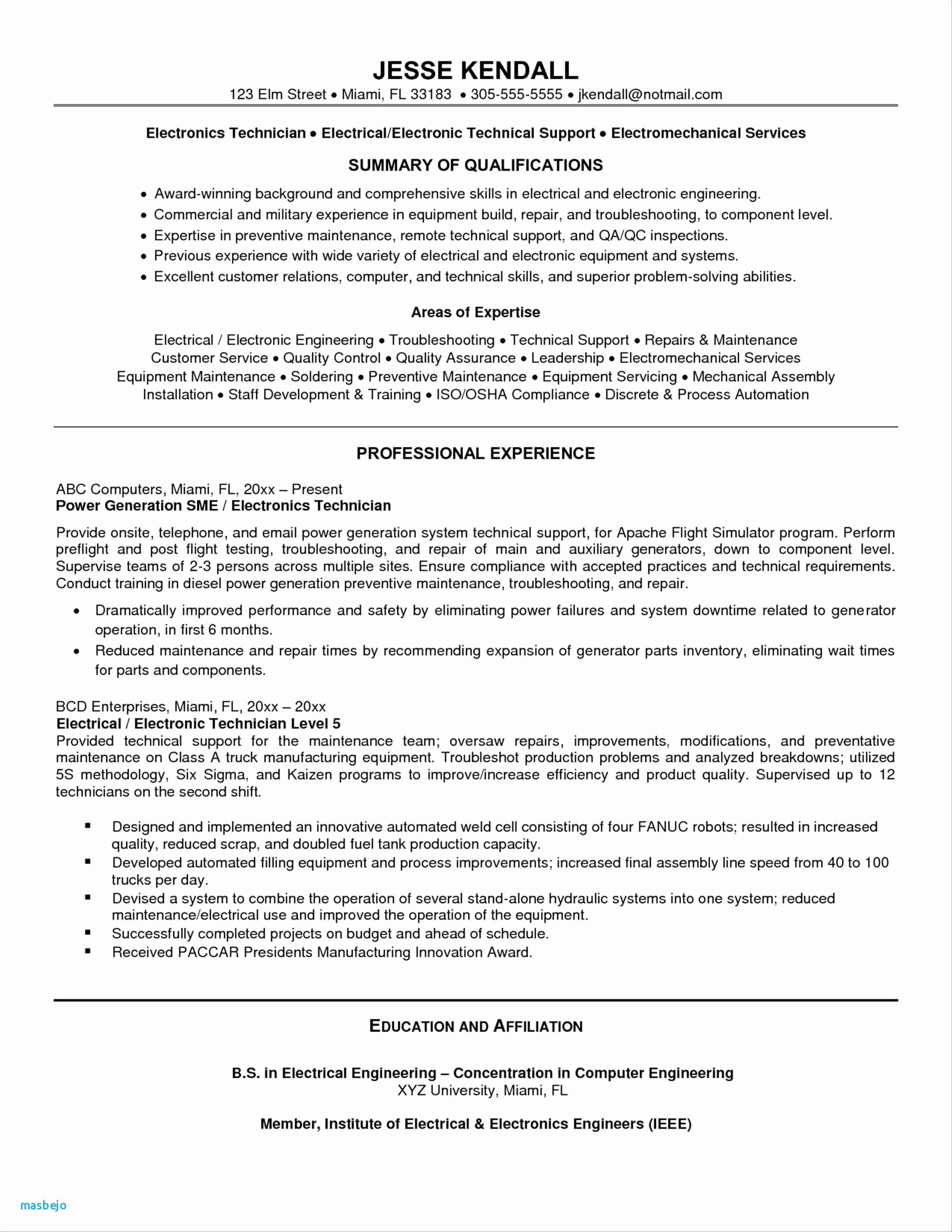 computer engineering resume template Collection-puter Engineering Resume Awesome New Tech Resume Best Great Resume Examples Awesome Fresh Resume 0d 8-q