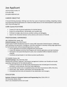 Computer Service Engineer Resume - android Developer Resume Example and Writing Tips