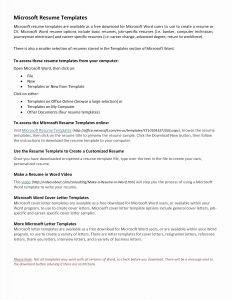Computer Tech Resume Template - Line Letter Template Collection