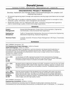Construction Manager Resume Template - Healthcare Project Test Cases