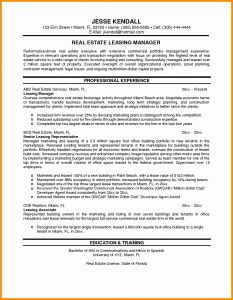 Construction Resume - Real Estate Templates Fresh Sample Resume for Property Manager Bsw