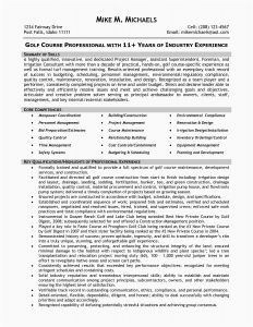 Construction Superintendent Resume Template - Construction Superintendent Resume Templates Inspirational 21