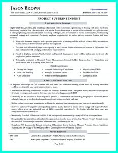 Construction Superintendent Resume Template - Construction Superintendent Resume Can Be In Simple Design but It