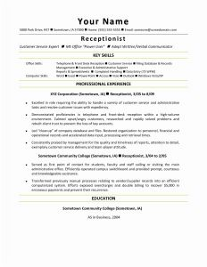 Consultant Resume Template - Consulting Resume Template Awesome Resume Mail format Sample Fresh