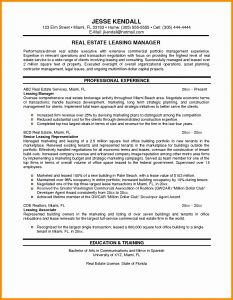 Contractor Resume - Management Cover Letter New Sample Resume for Property Manager Bsw