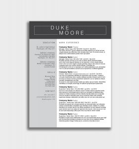 Cook Resume Template - Chef Resume Template