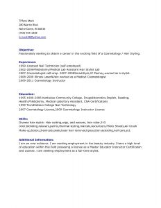 Cosmetologist Resume Template - 49 Inspirational Information Technology Resume