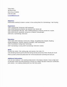 Cosmetology Resume Template Free - Perfect Pharmacy Technician Resume Template Vcuregistry