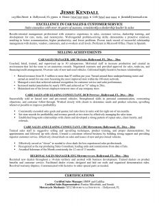 Cv for Car Sales Resume - 21 Auto Sales Resume