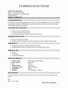 Dance Resume Template Microsoft Word - Professional Business Letter format Template Download