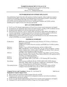 Desktop Support Resume - Technology Skills Resume Resume Example Ac Plishments New Tech