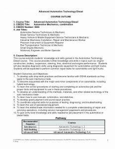 Diesel Engine Mechanic Resume - Automotive Technician Resume Best 20 Diesel Mechanic Resume