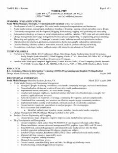 Digital Media Resume - social Media Specialist Resume Unique social Media Report Sample