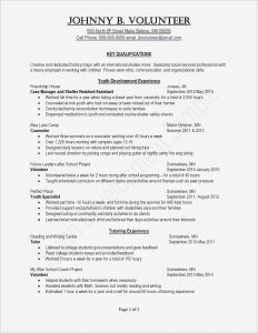 Early Childhood Education Resume Template - Template for A Resume Inspirationa Cfo Resume Template Inspirational
