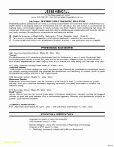 Early Childhood Education Resume Template - New Free Teacher Resume Templates