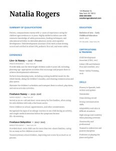 Early Childhood Education Resume Template - How to Write A Nanny Resume to Wow Any Family [with Resume Template
