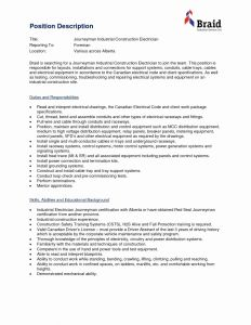 Electrician Resume Template Microsoft Word - 20 Electrician Resume Template Microsoft Word