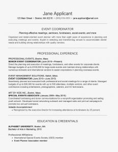 Event Manager Resume Template - event Planner Resume and Cover Letter Examples