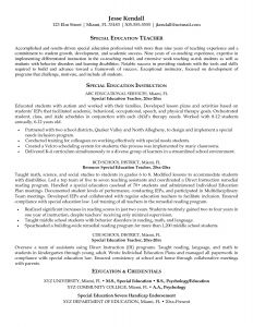 Excellent Resume - Education Teacher Resume – Elegant Resume for Highschool Students
