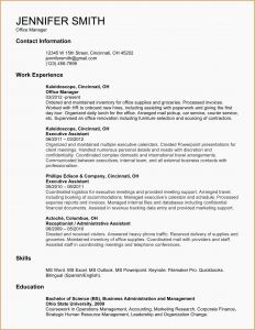 Executive assistant Resume Template Word - Entry Level Cna Resume Best Entry Level Cna Resume Administrative