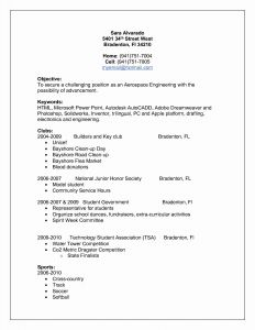 Extracurricular Activities Resume Template - Resume Educational Background format Awesome Lovely Pr Resume