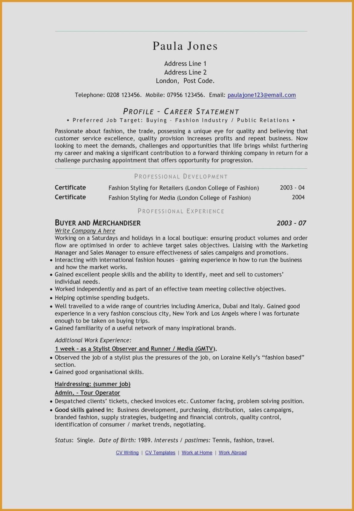12 fashion industry resume examples