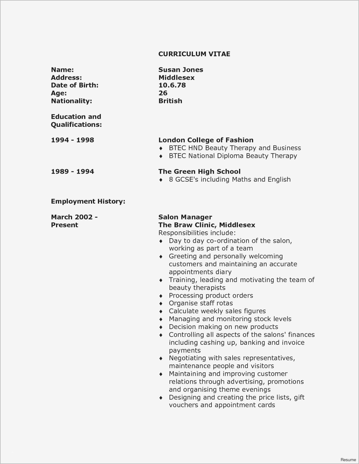 12 Fashion Resume Ideas Resume Template