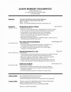 Financial Advisor Resume Template - Free Mx Resume Templates