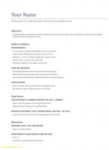 Food and Beverage Resume Template - Food and Beverage Resume Unique Food Server Resume Inspirational