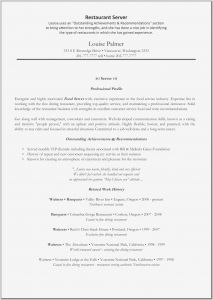 Food Service Resume - Restaurant Server Cover Letter