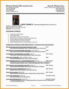 Football Coach Resume Template - College Basketball Coach Resume Inspirationa Football Coaching