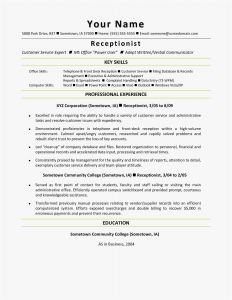 Front Desk Resume Template - Executive assistant Resume Samples Examples Word – Free Templates