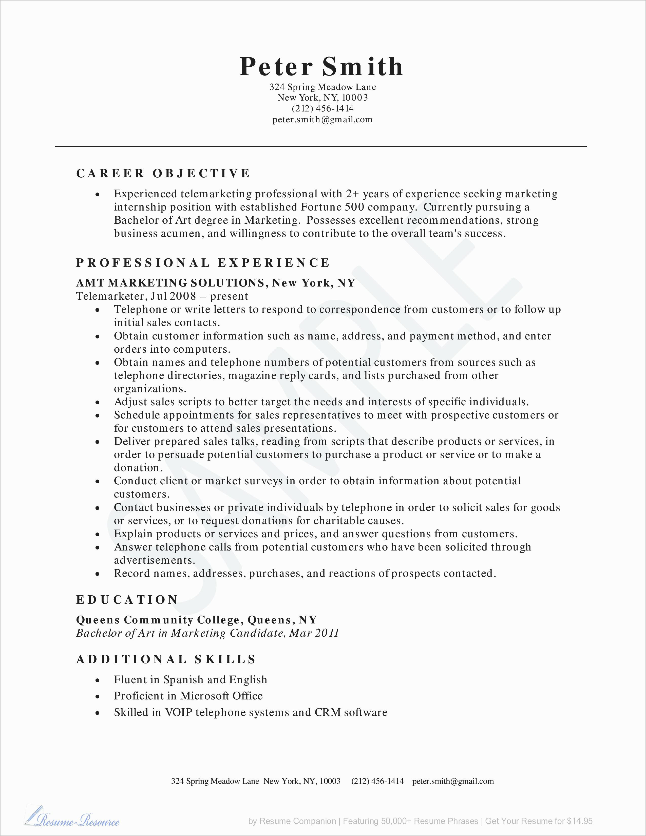 general motors careers resume example-General Motors Careers Resume Fresh Resume format Sales and Marketing Beautiful Awesome How Can I Do 10-d