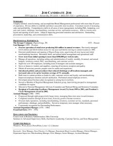 Grocery Resume - Sample Resume for Store Manager Position New Retail Supervisor