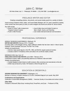 Gwu Resume Template - Freelance Resume Cover Letter and Writing Tips