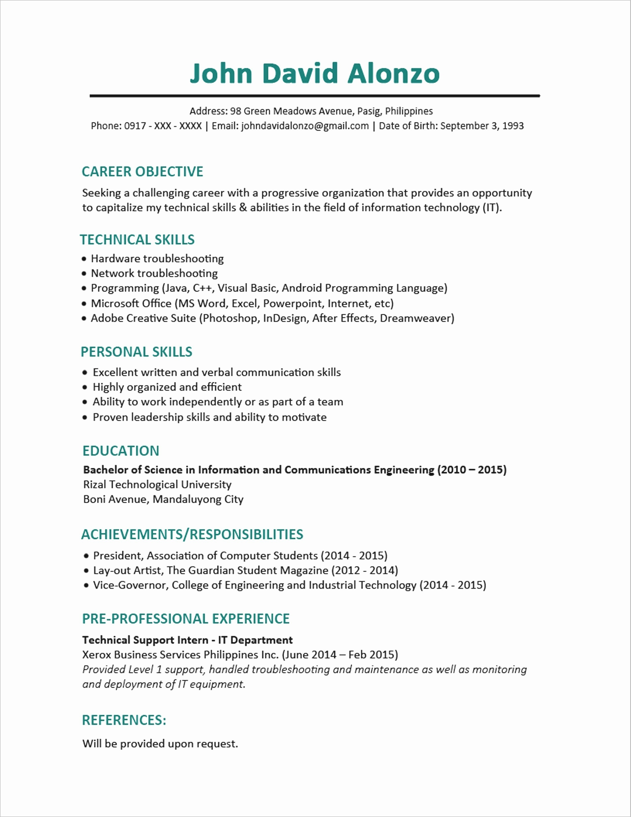 hardware and networking resume Collection-puter Hardware and Networking Resume format Inspirational First Career Resume Peaceful Resume First Job Best Fresh 13-b