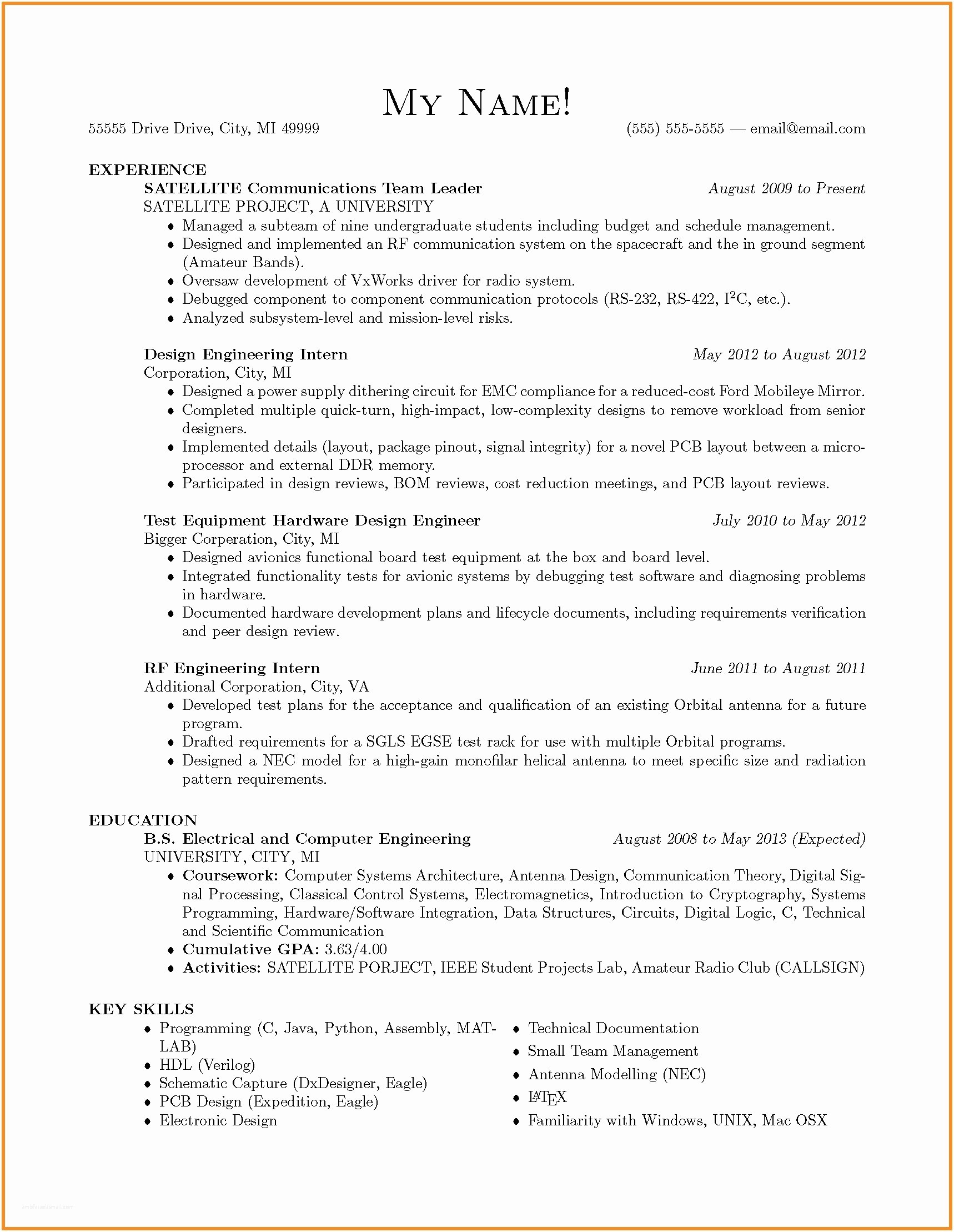 11 Hardware Design Engineer Resume Examples | Resume Template