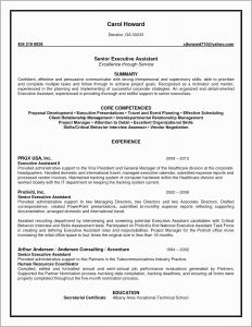 Hardware In Resume - Senior Executive assistant Resume Examples