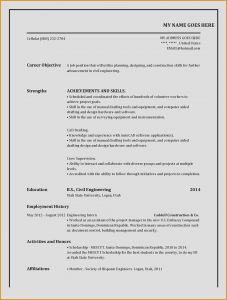 Hardware Skills In Resume - Download Free Puter Hardware Resume New Resume format