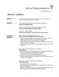 Heavy Duty Mechanic Resume - 47 New Auto Mechanic Resume