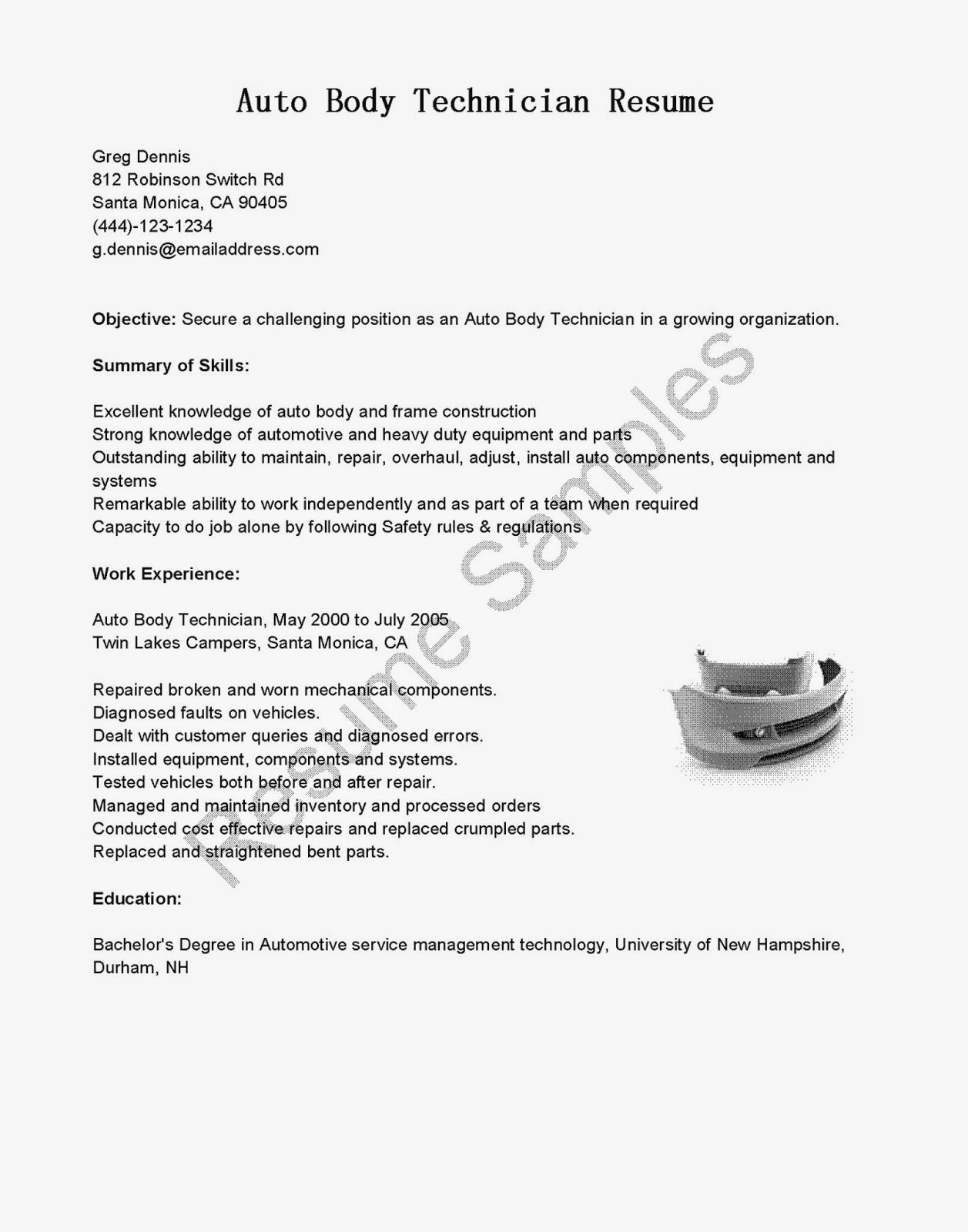 heavy duty mechanic resume example-Auto Body Technician Resume Beautiful Mechanic Resume Example Lovely 15-n