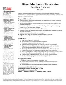 Heavy Duty Mechanic Resume - Diesel Mechanic Resume Beautiful Resume Examples for Diesel Mechanic