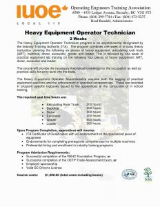 Heavy Equipment Operator Resume - Heavy Equipment Operator Resume New Machine Operator Resume Sample
