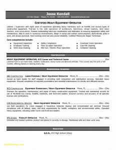 Heavy Equipment Operator Resume - Awesome Heavy Equipment Operator Resume