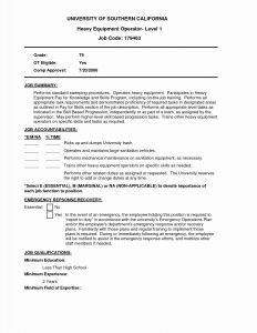Heavy Equipment Operator Resume - Machine Operator Job Description for Resume Fresh Slitter Operator