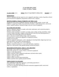 Heavy Equipment Operator Resume - Heavy Equipment Operator Resume Fresh Unique Heavy Equipment