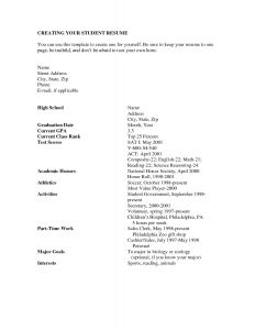 High School Resume Template Pdf - How to Write A Job Resume for A Highschool Student Sample Pdf High