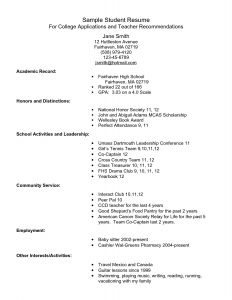 High School Resume Template Pdf - Awesome High School Resume Template for College Application