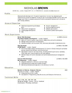 Html5 Resume Template Free Download - 19 Fresh Cv Template Download Land Of Template