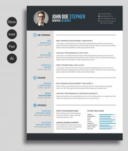Html5 Resume Template Free Download - 17 Awesome Resume Templates Word Free Download